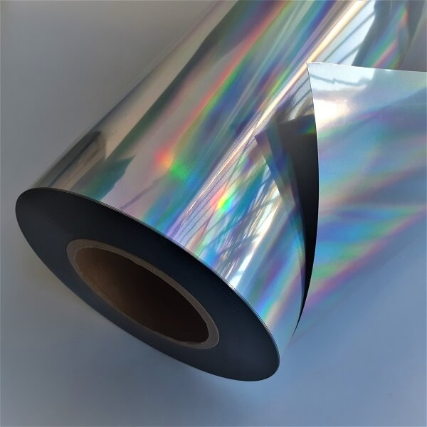 Filme de recorte holográfico prata