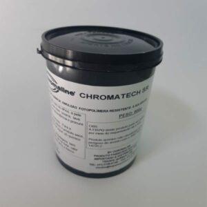 Emulsão serigráfica - Chromatech SR fotopolímera, resistente a solventes.Excepcional qualidade de reprodução de imagens.