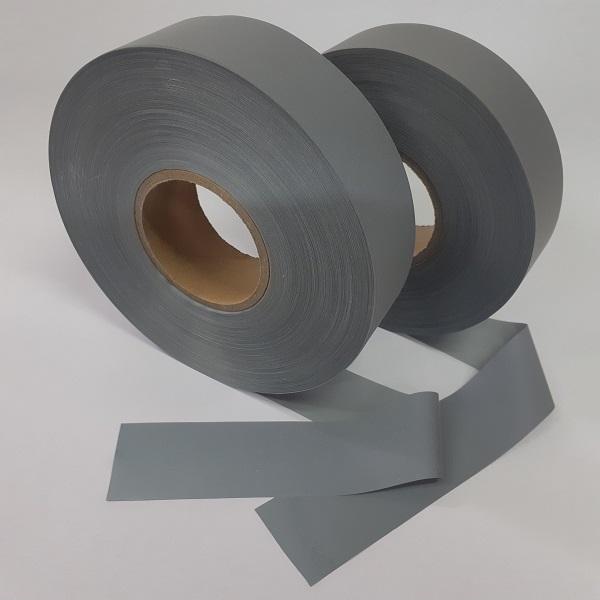 Dois rolos de fita refletiva cinza 5 cm